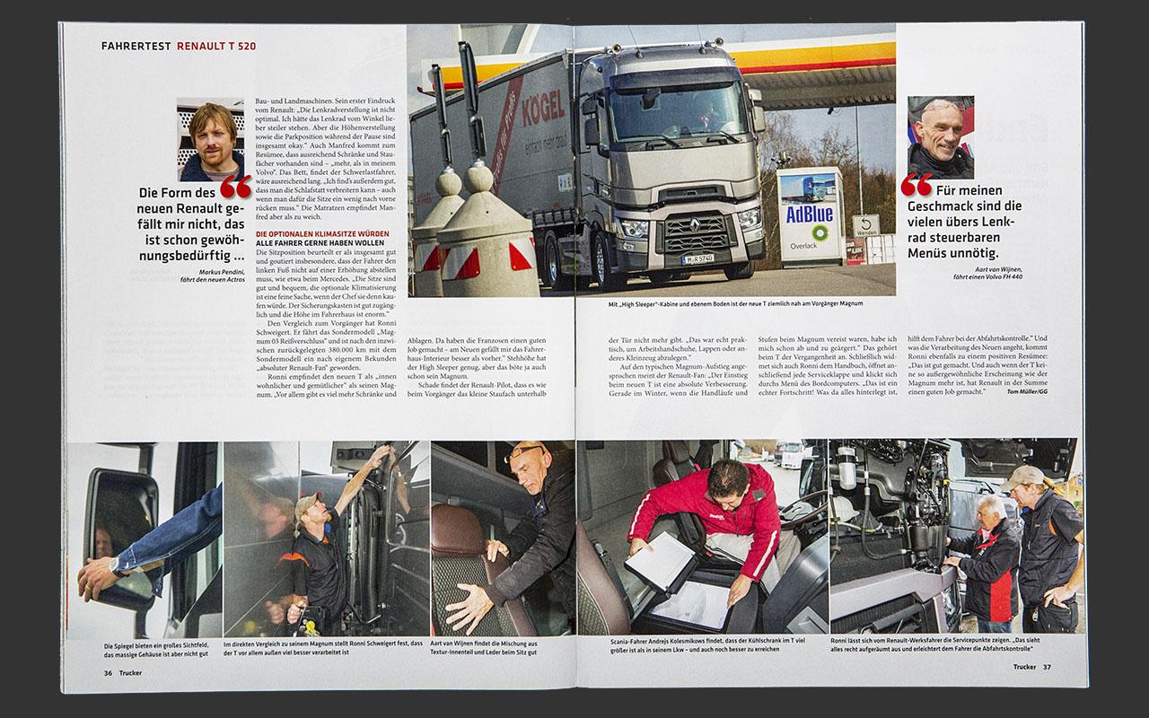 Trucker - Fahrertest Renault T 520